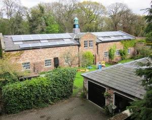 Solar PV panels on barn